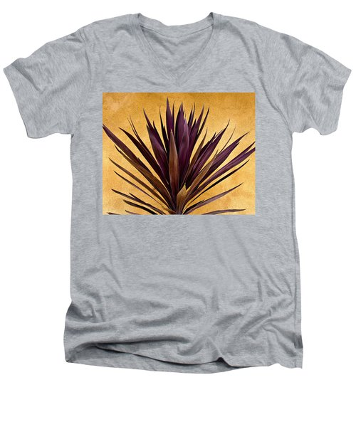 Purple Giant Dracaena Santa Fe Men's V-Neck T-Shirt