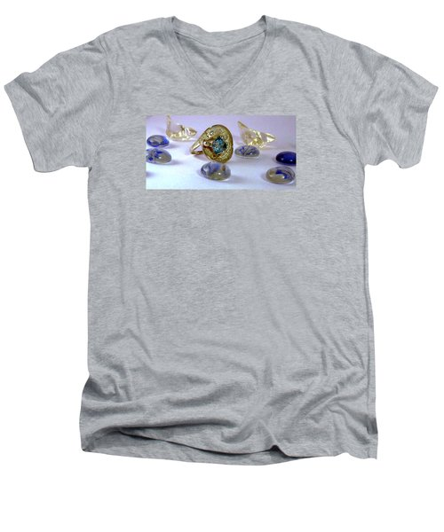 Rhapsody In Blue Men's V-Neck T-Shirt