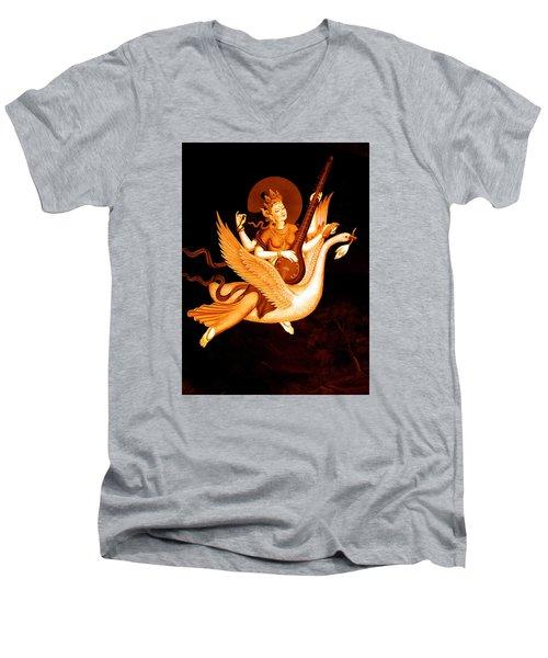 Saraswati 4 Men's V-Neck T-Shirt