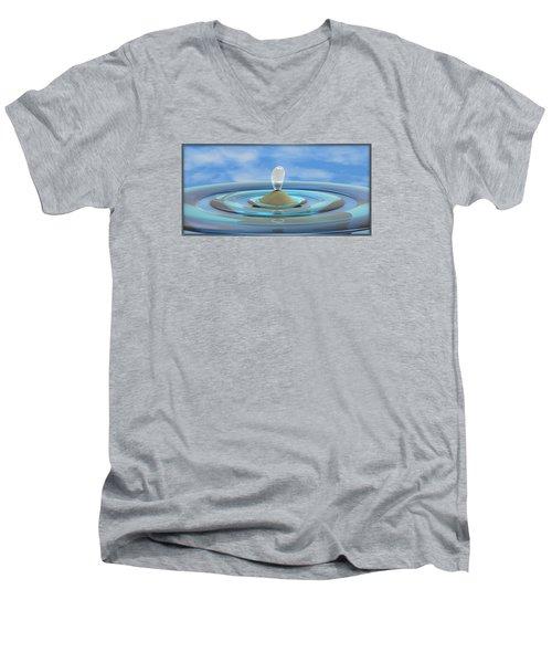 ' Sea Creature Descends ' - Digital Art Format Men's V-Neck T-Shirt