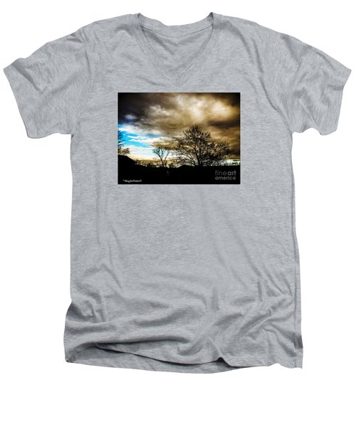 Storm  Coming  Men's V-Neck T-Shirt by MaryLee Parker