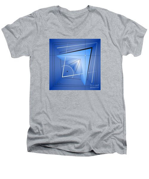 Men's V-Neck T-Shirt featuring the digital art  Structural Limitations Of Thought by Leo Symon