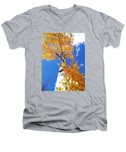 The Aspen Crown Dixie National Forest Utah Men's V-Neck T-Shirt