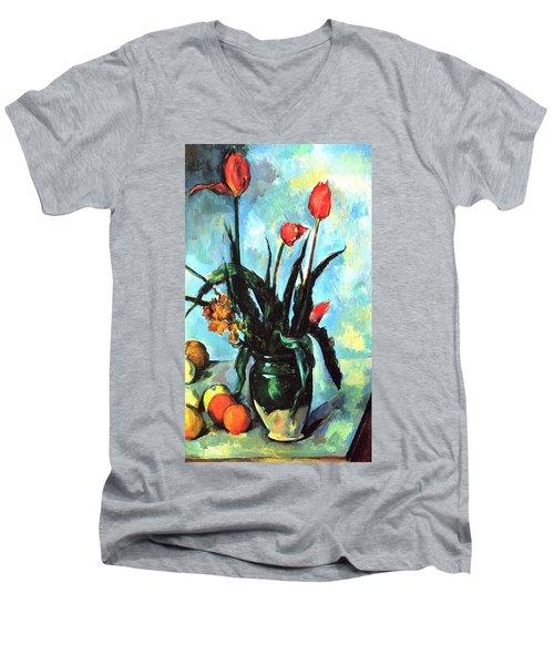 Tulips In A Vase Men's V-Neck T-Shirt