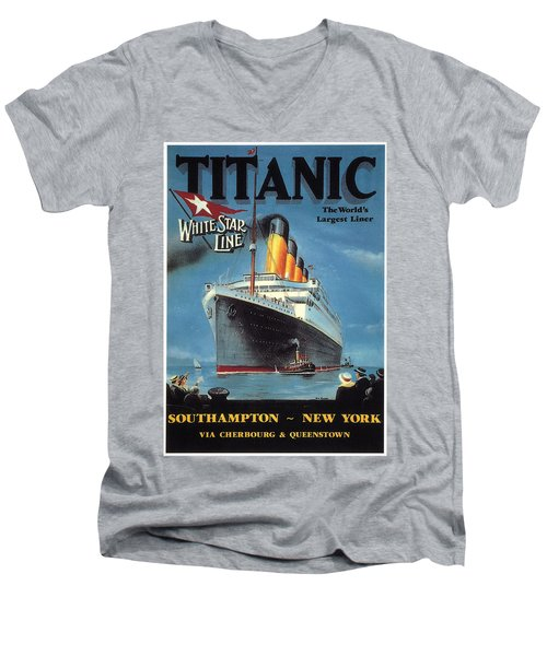 0065186 Men's V-Neck T-Shirt by Titanic