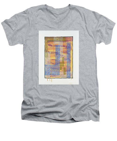 Men's V-Neck T-Shirt featuring the painting 01327 by AnneKarin Glass