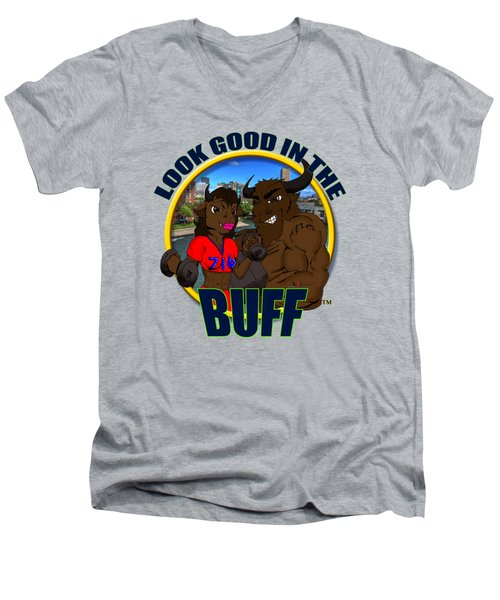 02 Look Good In The Buff Men's V-Neck T-Shirt by Michael Frank Jr