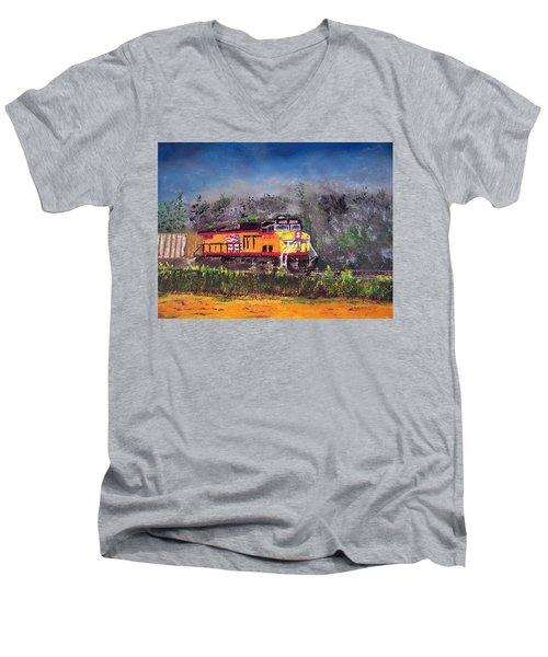 021216 East Bound Men's V-Neck T-Shirt by Garland Oldham