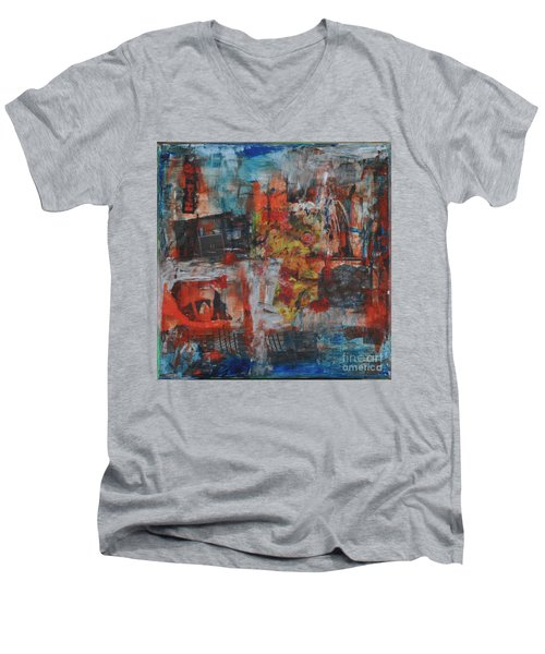 027 Abstract Thought Men's V-Neck T-Shirt