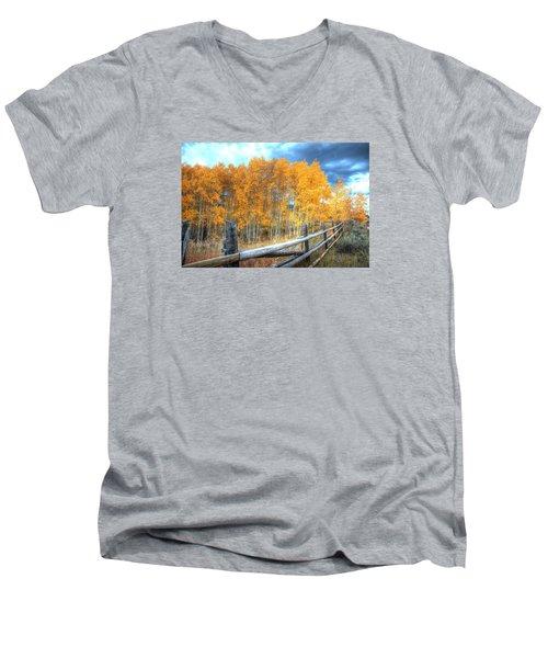 Autumn Fenced Men's V-Neck T-Shirt
