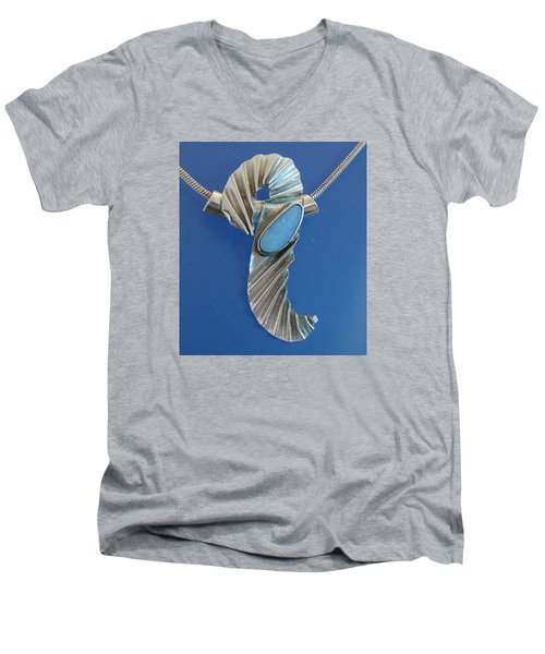 0468 Seahorse Men's V-Neck T-Shirt