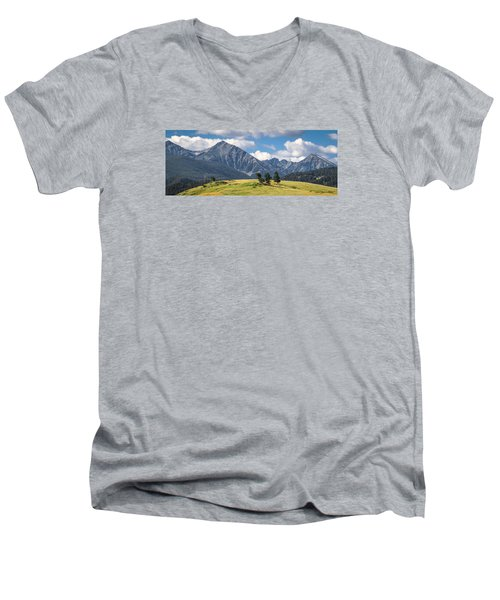 #0491 - Spanish Peaks, Southwest Montana Men's V-Neck T-Shirt