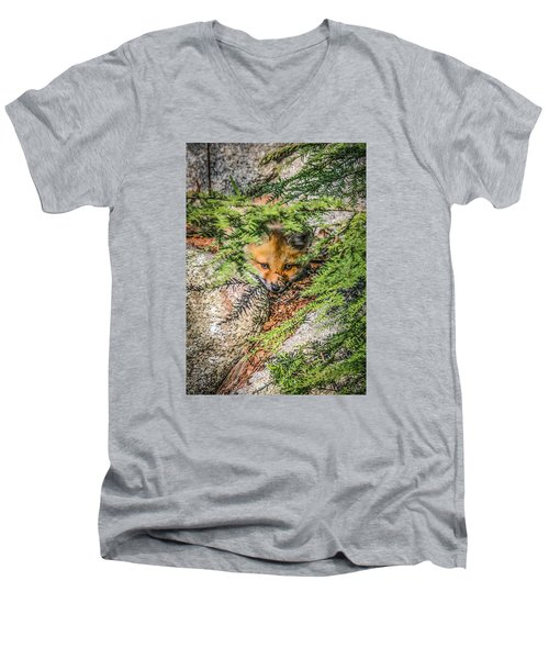 #0527 - Fox Kit Men's V-Neck T-Shirt