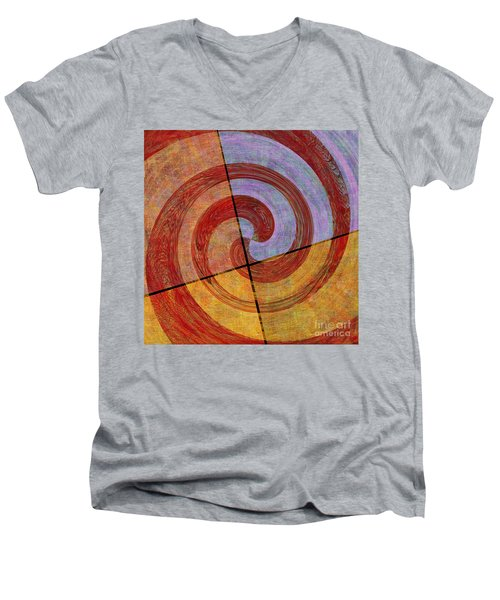 0581 Abstract Thought Men's V-Neck T-Shirt