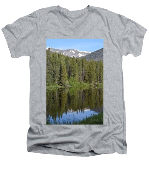 Chambers Lake Hwy 14 Co Men's V-Neck T-Shirt