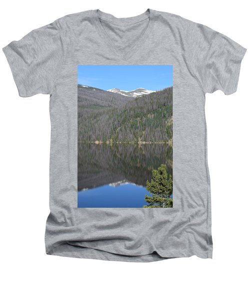 Chambers Lake Reflection Hwy 14 Co Men's V-Neck T-Shirt