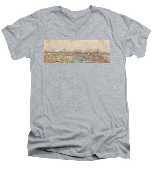 10879 Clearwater Marina Men's V-Neck T-Shirt