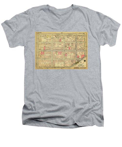 1927 Inwood Map  Men's V-Neck T-Shirt