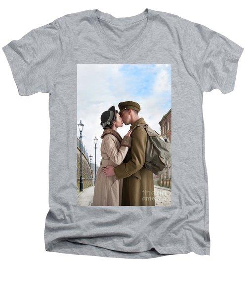 1940s Lovers Men's V-Neck T-Shirt