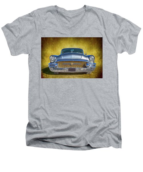 1955 Buick Men's V-Neck T-Shirt by Keith Hawley