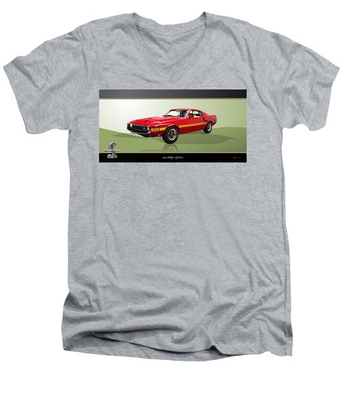 1969 Shelby V8 Gt350  Men's V-Neck T-Shirt