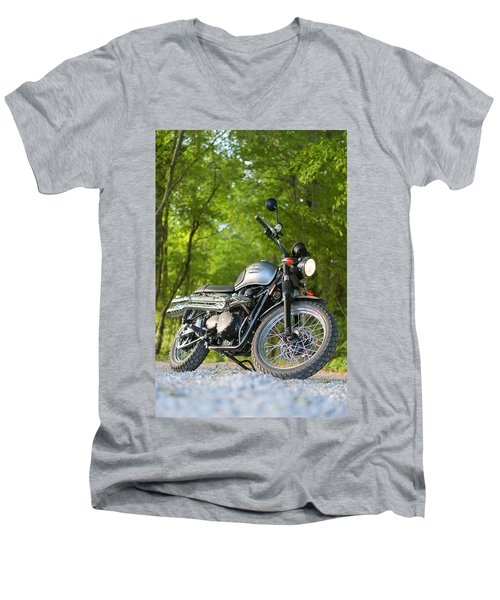 2013 Triumph Scrambler Men's V-Neck T-Shirt