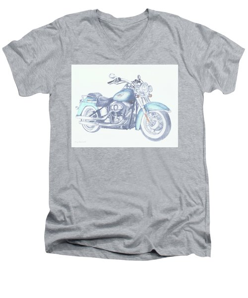 2015 Softail Men's V-Neck T-Shirt by Terry Frederick