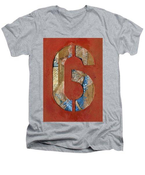 6 Men's V-Neck T-Shirt