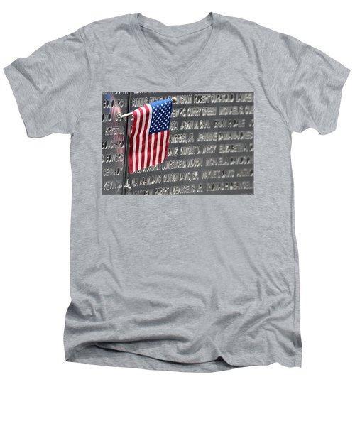 9 11 Memorial Rocky Point New York Men's V-Neck T-Shirt by Bob Savage