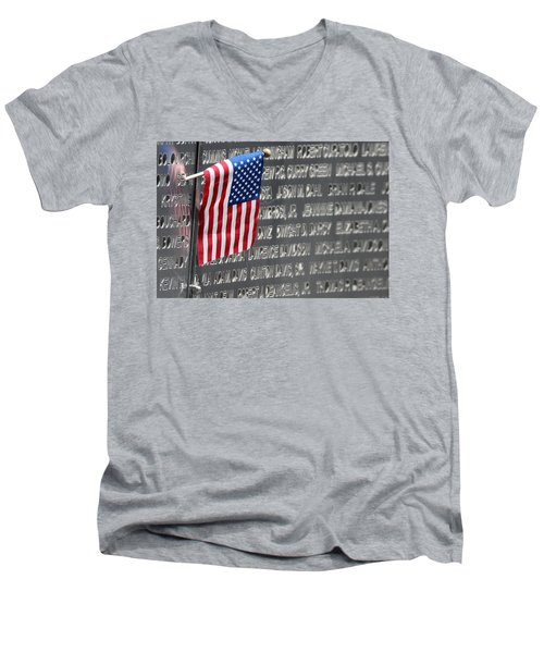 9 11 Memorial Rocky Point New York Men's V-Neck T-Shirt