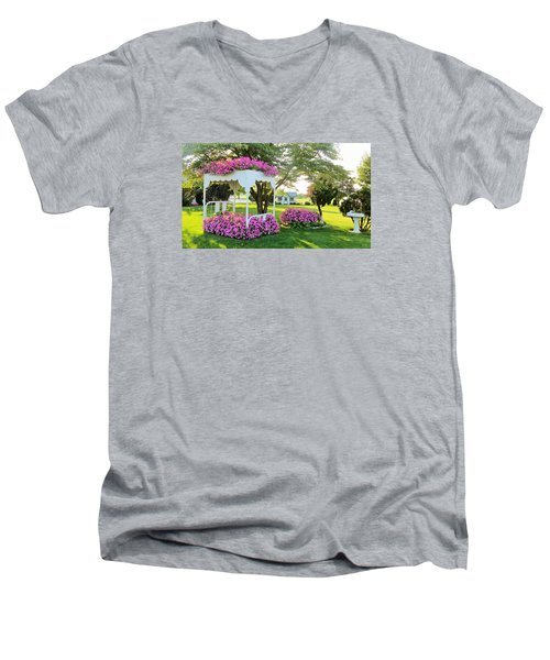A Bed Of Flowers Men's V-Neck T-Shirt