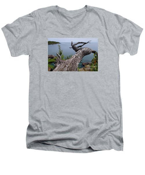 Men's V-Neck T-Shirt featuring the photograph A Different Point Of View by Sandra Updyke