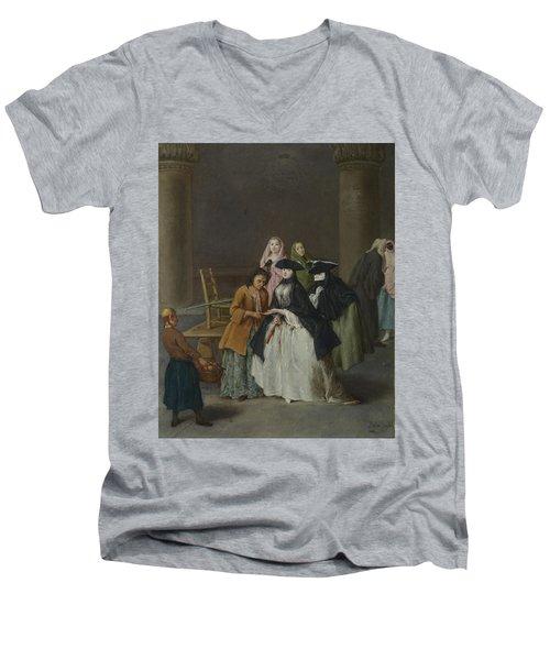 A Fortune Teller At Venice Men's V-Neck T-Shirt