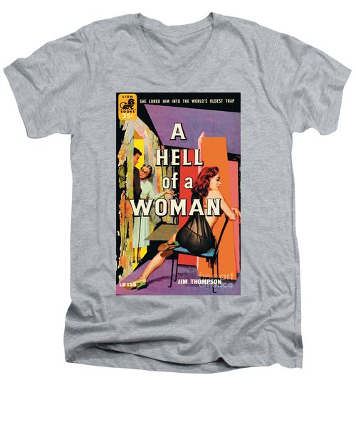 A Hell Of A Woman Men's V-Neck T-Shirt