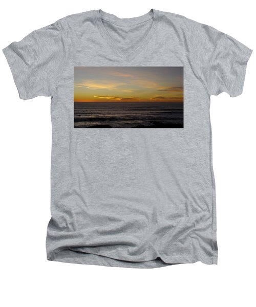 Men's V-Neck T-Shirt featuring the photograph A Sunset by Alex King