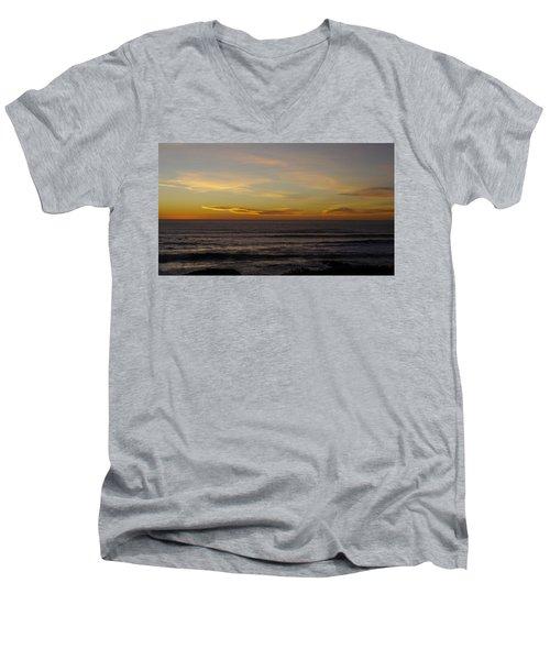 A Sunset Men's V-Neck T-Shirt by Alex King