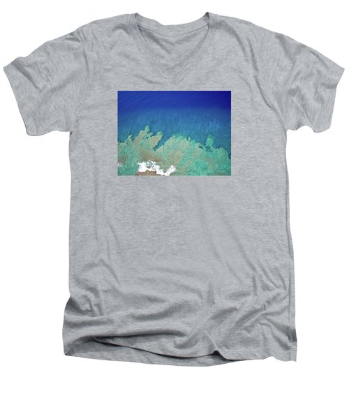Abstract Aerial Reef Men's V-Neck T-Shirt