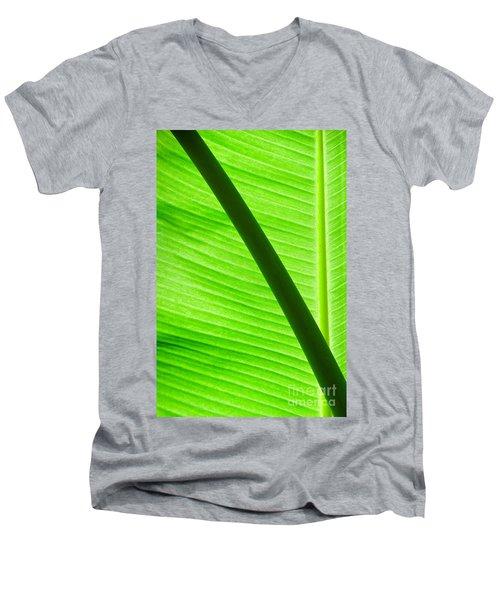 Abstract Banana Leaf Men's V-Neck T-Shirt by Yurix Sardinelly