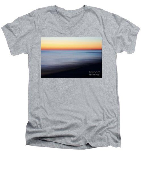 Abstract Sky Men's V-Neck T-Shirt by Tony Cordoza