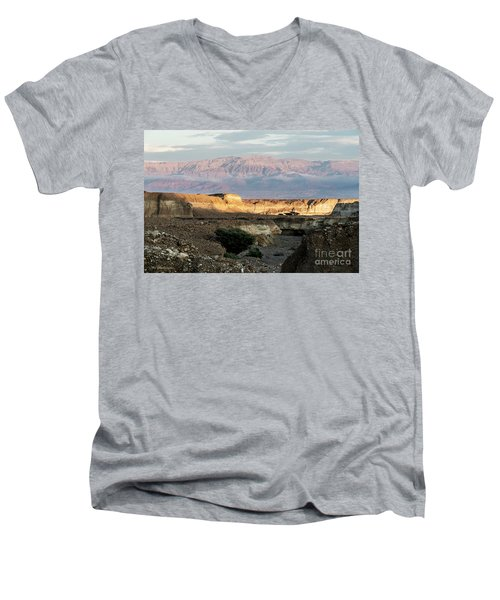 Men's V-Neck T-Shirt featuring the photograph After Rain Colors 02 by Arik Baltinester
