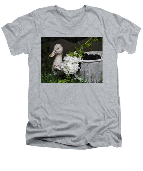 Men's V-Neck T-Shirt featuring the photograph After The Rain by Betty-Anne McDonald