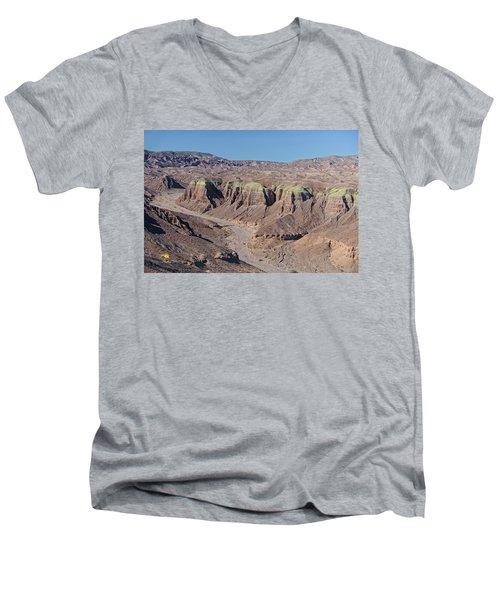 Men's V-Neck T-Shirt featuring the photograph Afton Canyon by Jim Thompson