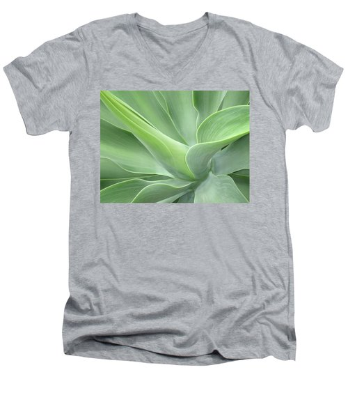 Agave Attenuata Abstract Men's V-Neck T-Shirt