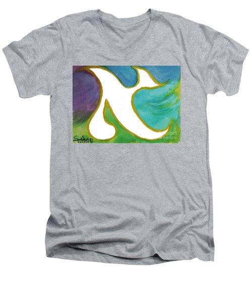 Aleph Alive Men's V-Neck T-Shirt