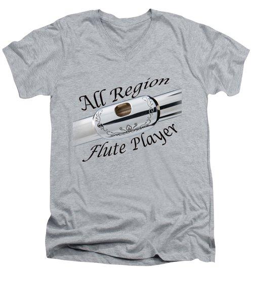All Region Flute Player Men's V-Neck T-Shirt