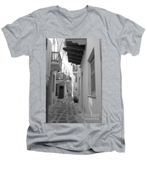 Alley Way Men's V-Neck T-Shirt