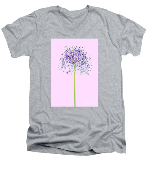Allium Men's V-Neck T-Shirt by Tony Cordoza