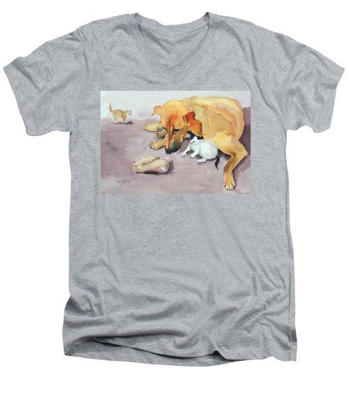 Amira And Junior Men's V-Neck T-Shirt