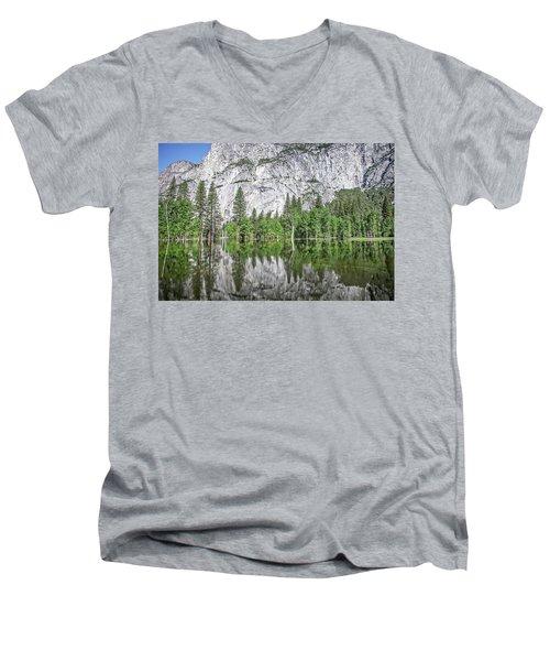 Amplitude Men's V-Neck T-Shirt by Ryan Weddle