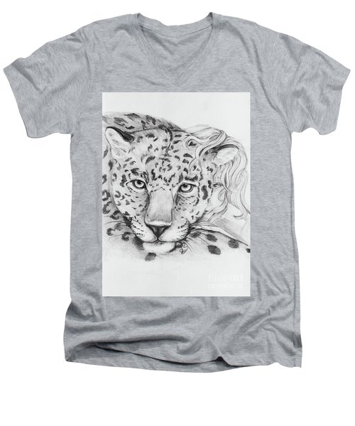 Anam Leopards Men's V-Neck T-Shirt